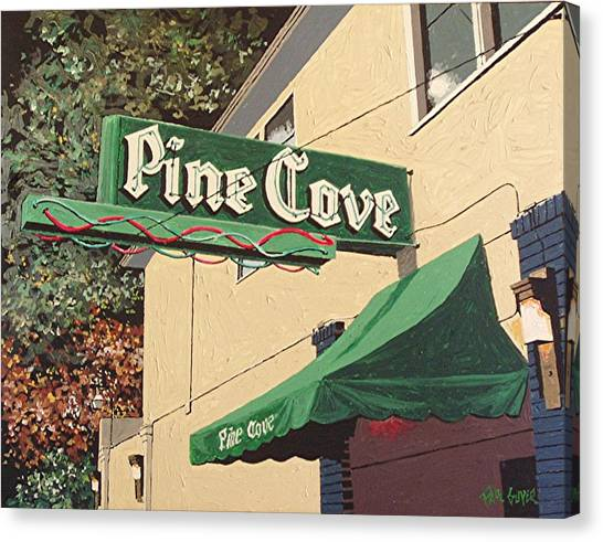The Pine Cove Canvas Print by Paul Guyer