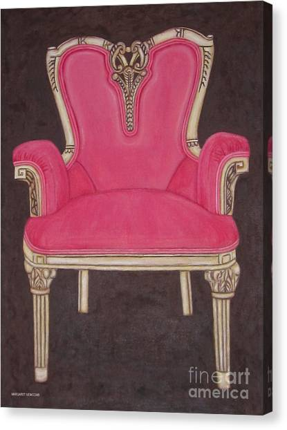 The Pink Chair Canvas Print