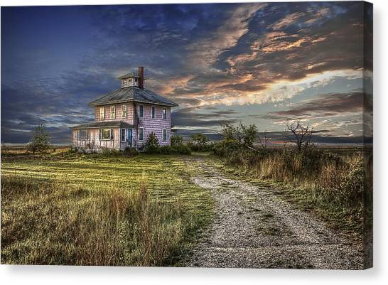 The Pink House - Color Canvas Print
