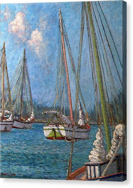 The Pink Mast Canvas Print