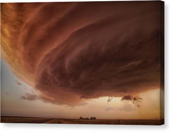 Tornadoes Canvas Print - The Pink Storm by Alexander Fisher