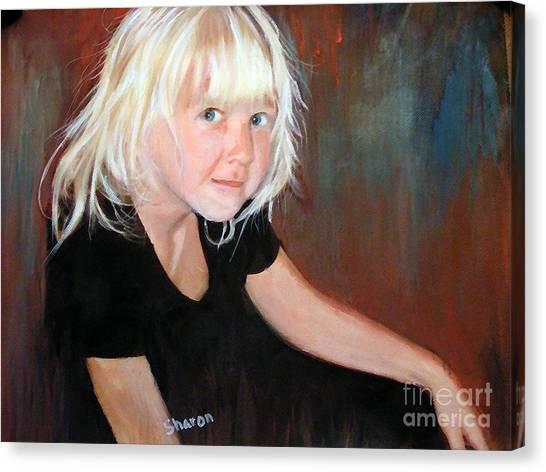 The Pixie Princess Maya Kathleen Burger Canvas Print by Sharon Burger