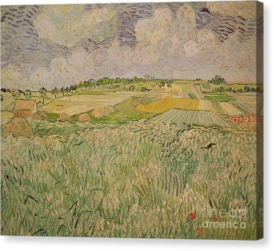 Rainclouds Canvas Print - The Plain At Auvers by Vincent Van Gogh