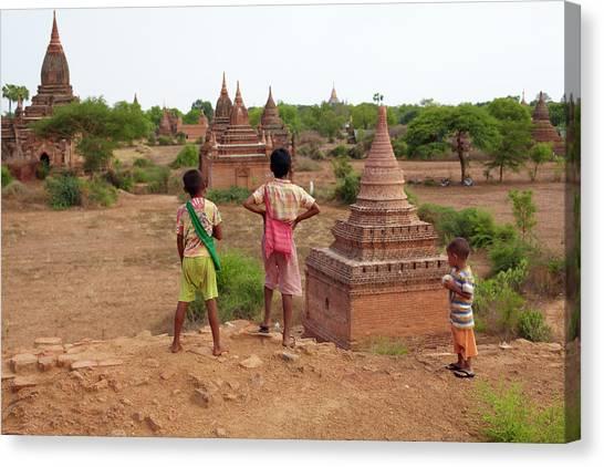 The Plains Of Bagan Canvas Print by Zhang Bo