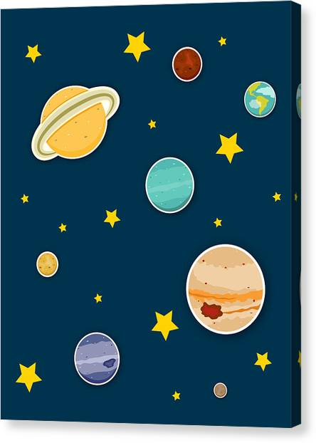 Uranus Canvas Print - The Planets  by Christy Beckwith