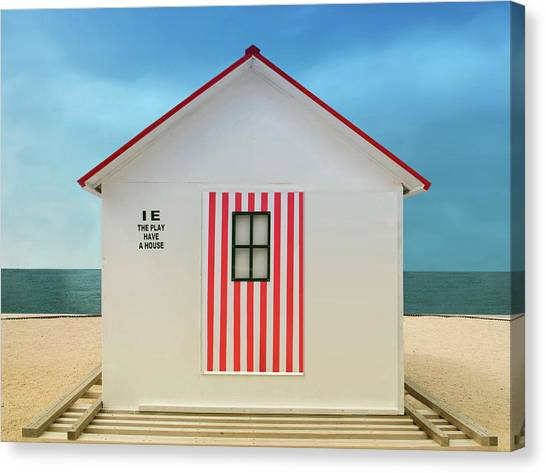Beach Resort Canvas Print - The Play Have A House by Anette Ohlendorf