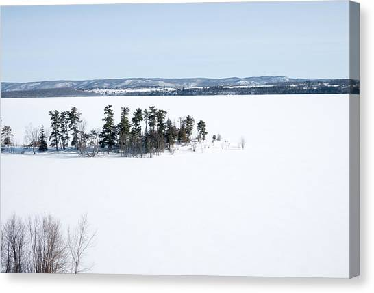 The Point In Winter Pinheys Point Ontario Canvas Print