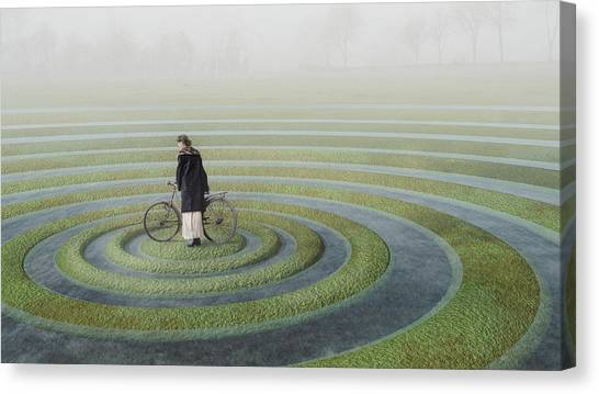 Compose Canvas Print - The Point Of No Return by Esther Margraff