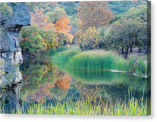 The Pond At Lost Maples State Natural Area - Texas Hill Country Canvas Print