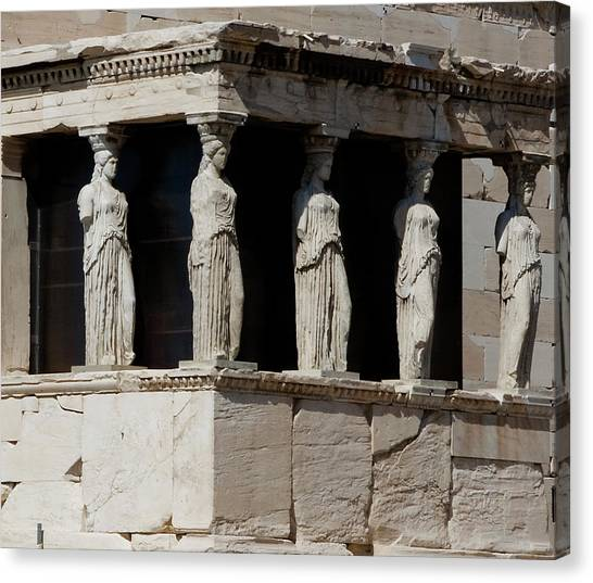 The Porch Of Maidens Canvas Print
