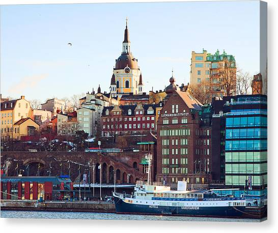 The Port Canvas Print by Viacheslav Savitskiy