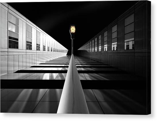 Street Lamp Canvas Print - The Portal For Silver Mountains by Dr. Akira Takaue