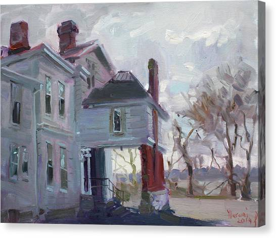 Niagara Falls Canvas Print - The Porter Mansion by Ylli Haruni