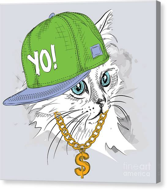 Money Canvas Print - The Poster With The Image Cat Portrait by Sunny Whale