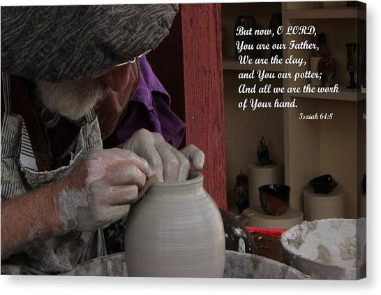 The Potter's Hand Canvas Print