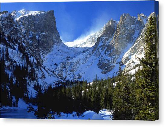 Colorado Rockies Canvas Print - The Power And The Glory by Eric Glaser
