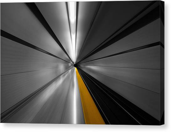 Subway Canvas Print - The Power Of Speed by Roland Shainidze