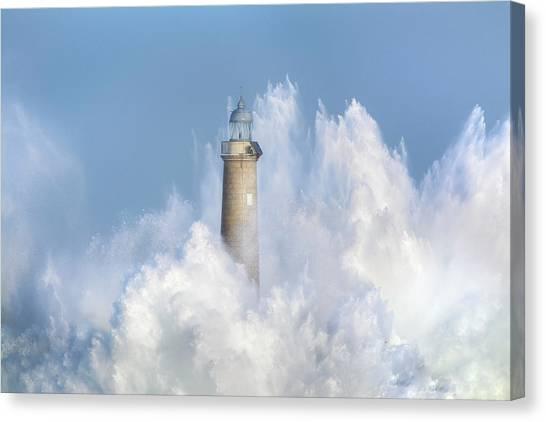 Tsunamis Canvas Print - The Power Of The Sea. by Sergio Saavedra Ruiz