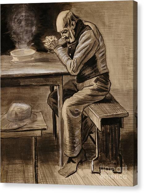 Vincent Van Gogh Canvas Print - The Prayer by Vincent Van Gogh