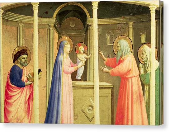 Presentations Canvas Print - The Presentation In The Temple by Fra Angelico