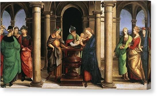 The Vatican Museum Canvas Print - The Presentation In The Temple by Raffaello Sanzio