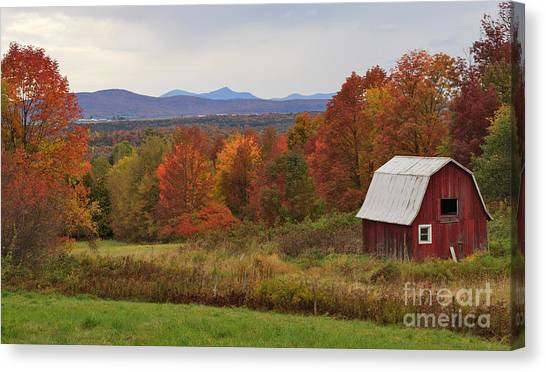 The Pretty Little Barn Eighteen Miles From Jay Peak Canvas Print