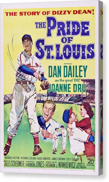 1950s Movies Canvas Print - The Pride Of St.louis, Dan Dailey by Everett
