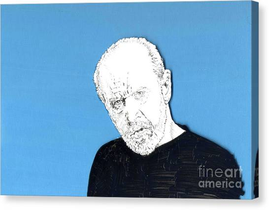 The Priest On Blue Canvas Print