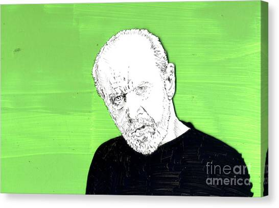 the Priest on Green Canvas Print