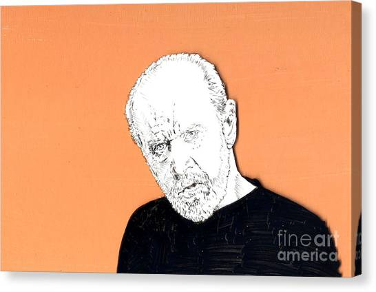 The Priest On Orange Canvas Print