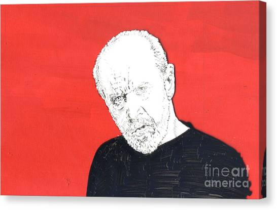 The Priest On Red Canvas Print