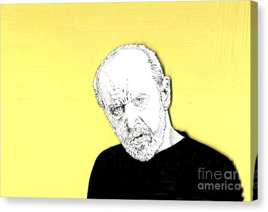 The Priest On Yellow Canvas Print