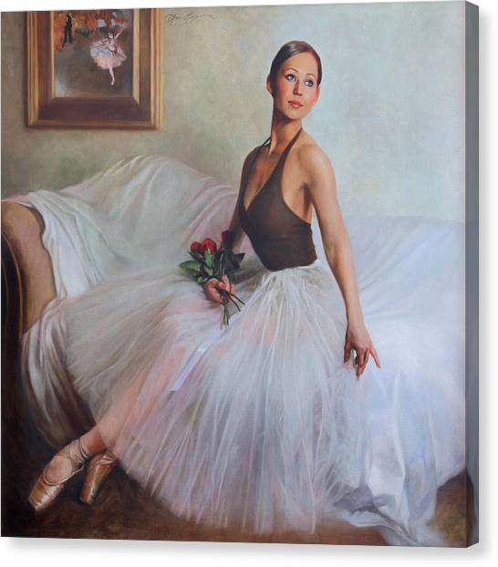 Ballet Canvas Print - The Prima Ballerina by Anna Rose Bain