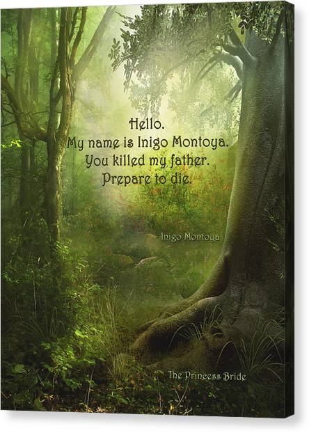 The Princess Bride - Hello Canvas Print