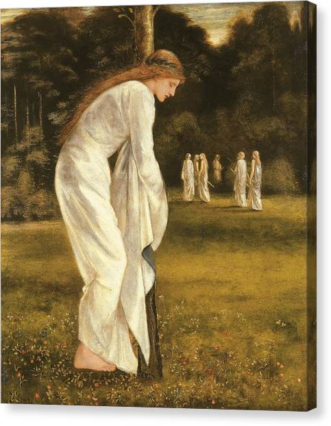 Pre-modern Art Canvas Print - The Princess Tied To A Tree by Sir Edward Coley Burne-Jones