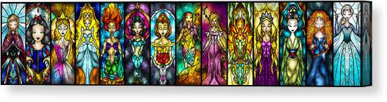 Knights Canvas Print - The Princesses by Mandie Manzano