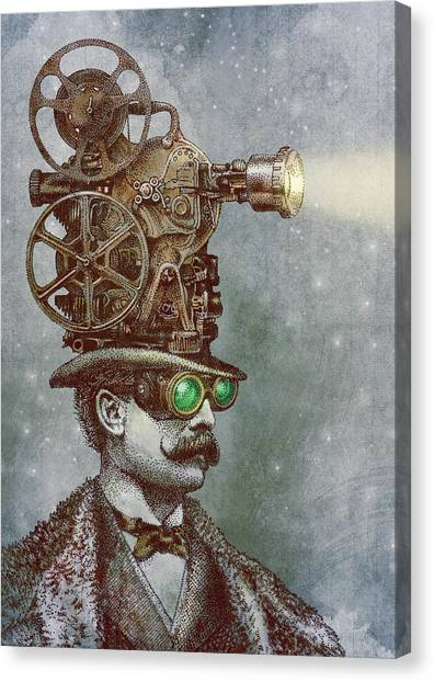 Movies Canvas Print - The Projectionist by Eric Fan