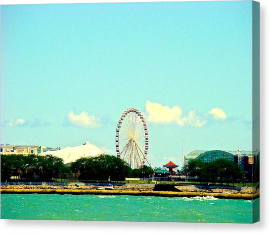 The Promise Of A Ferris Wheel Canvas Print