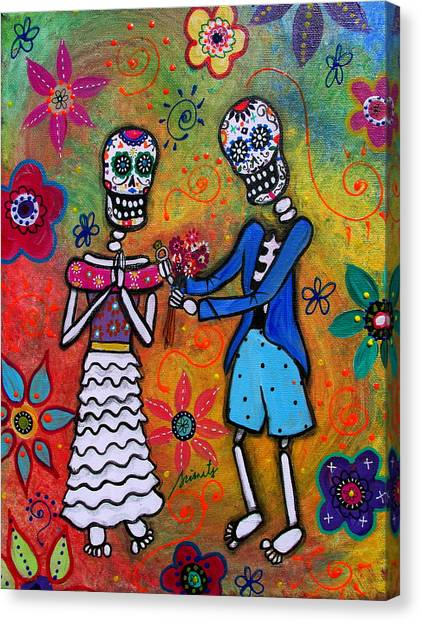 The Proposal Day Of The Dead Canvas Print