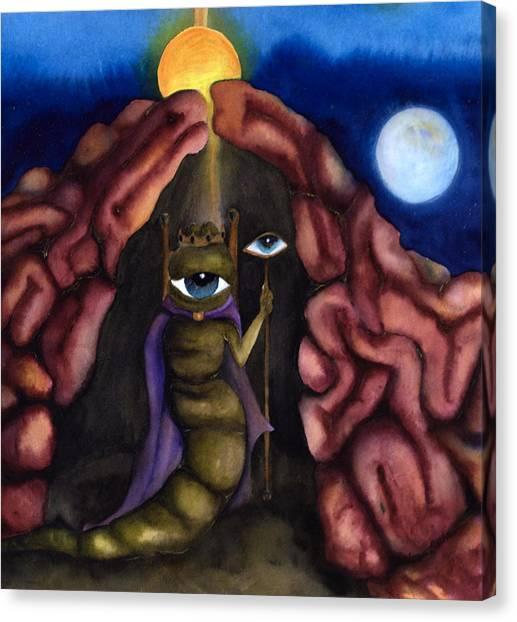The Psyche's Journey Through The Underworld Canvas Print by Rebecca Barham