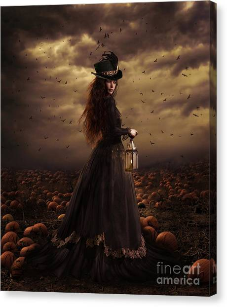 Ravens Canvas Print - The Pumpkin Patch by Shanina Conway