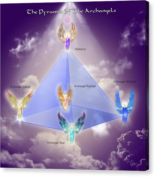 The Pyramid Of The Archangels Canvas Print