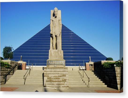 Memphis Grizzlies Canvas Print - The Pyramid Sports Arena In Memphis, Tn by Panoramic Images