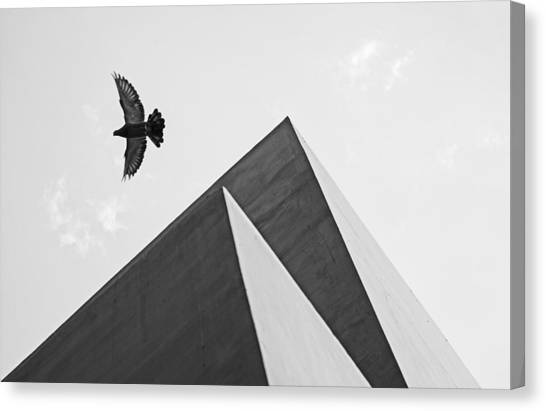 The Pyramids Of Love And Tranquility Canvas Print