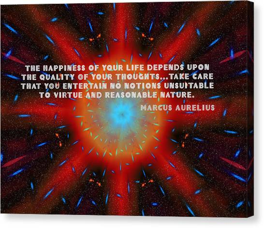 The Quality Of Your Thoughts Canvas Print