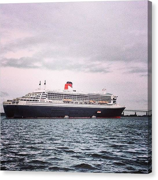 Rhode Island Canvas Print - The Queen Mary II At Newport by Jason Fourquet