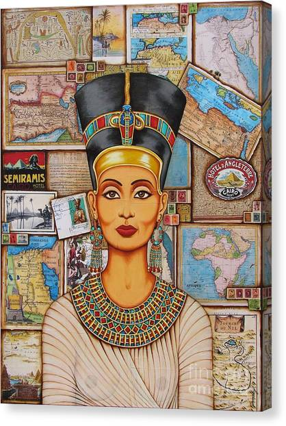The Queen Of Amarna Canvas Print