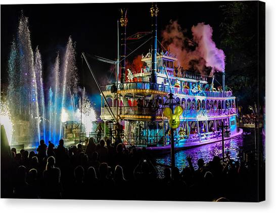The Mark Twain Disneyland Steamboat  Canvas Print
