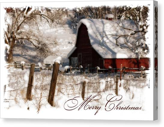 The Quiet - A Christmas Card Canvas Print