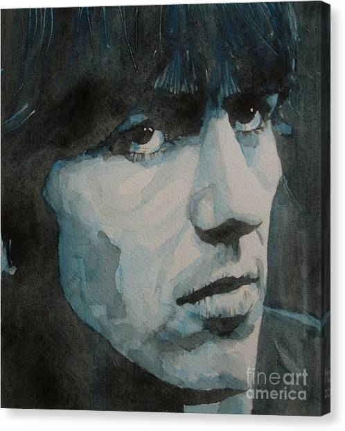 The Beatles Canvas Print - The Quiet One by Paul Lovering